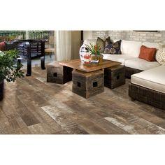 Style Selections Sequoia Ballpark Glazed Porcelain Indoor/outdoor Floor Tile…