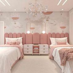 Kids Bedroom Designs, Bedroom Bed Design, Cute Bedroom Ideas, Cute Room Decor, Home Room Design, Room Ideas Bedroom, Kids Room Design, Bedroom Decor, Bedroom Inspiration