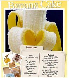 Slimming world banana cake