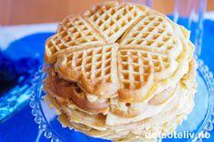 For travle dager! Creme Fraiche, Waffles, Dessert, Baking, Breakfast, Recipes, Heavenly, Foods, Cakes