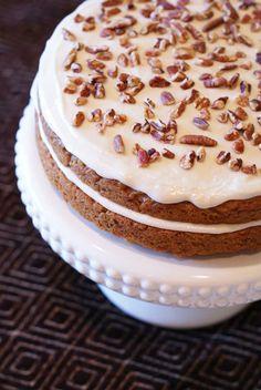 Carrot zucchini cake {Gluten-Free, Vegan}