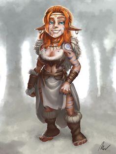 Ceiriene - Halfing Druid by foxlau.deviantart.com on @DeviantArt