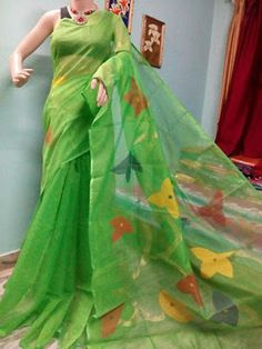 Handloom jamdani kota silk sarees   Buy Online Sarees   Elegant Fashion Wear