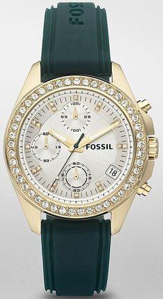 #Fossil #Watch , Fossil Decker Silicone Watch - Sapphire ES2965