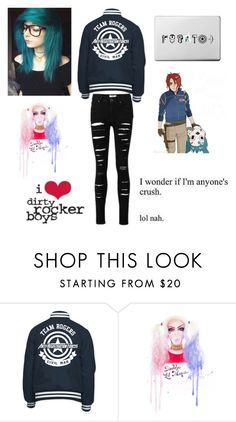 """""""Yes I'm new RTD"""" by killjoy-717 ❤ liked on Polyvore"""