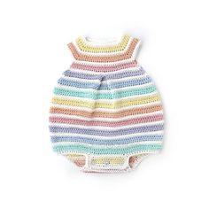 Crochet Rainbow Romper for Baby - [ FREE Pattern & Tutorial ] Crochet Romper, Crochet Baby Clothes, Baby Patterns, Crochet Patterns, Free Crochet, Crochet Hats, Baby Romper Pattern, Rainbow Crochet, Single Crochet Stitch