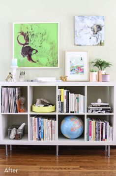 Before and After: How To Style a Bookshelf in Minutes » Curbly   DIY Design Community