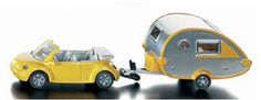 VW New Beetle Car with Camper