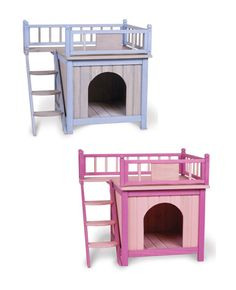 Cat house- could work if added a second story with a bigger house to keep the litter box in