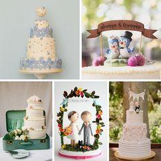 20 Delightful Wedding Cake Ideas for the 1950s Loving Bride