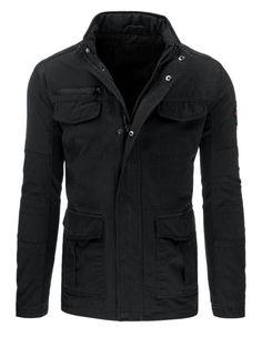 Pánská jarní bunda - Lind, grafitová Motorcycle Jacket, Military Jacket, Leather Jacket, Athletic, Zip, Jackets, Fashion, Studded Leather Jacket, Down Jackets