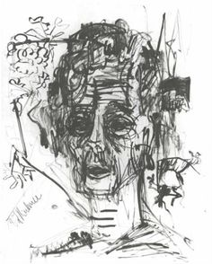 Self-portrait under the Influence of Morphium - Ernst Ludwig Kirchner