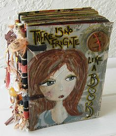 Jennibellie Studio: Handmade art journal - Made with recycled piano hinge - Video Tutorial @ http://jennibelliestudio.blogspot.ca/2011/11/aedm-nanowrimo-day-18.html#
