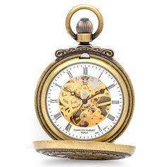Antique Gold Mechanical Charles Hubert Pocket Watch & Chain 3868-G