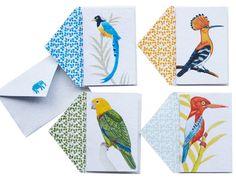 John Robshaw screen-printed bird cards