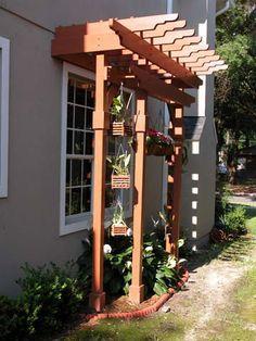 27 trendy pergola patio attached to house window Diy Pergola, Building A Pergola, Pergola Kits, Pergola Ideas, Diy Patio, Pergola Attached To House, Pergola With Roof, Patio Roof, Corner Pergola