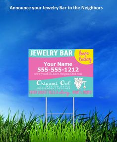Origami Owl Jewelry Bar sign
