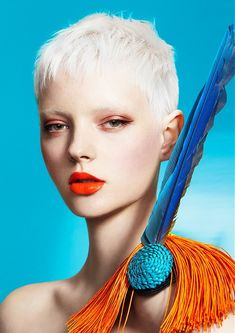 Short Blonde straight coloured spikey white womens haircut hairstyles for women