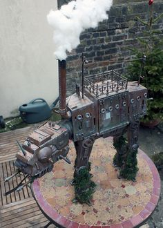 Geek creates an insanely detailed steampunk AT-AT as a gift for his very own Princess Leia- check it out!
