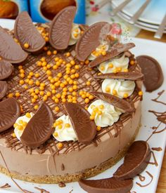 Terrys Chocolate Orange Cheesecake Perfect Christmas Pud! Direct recipe linkhellip
