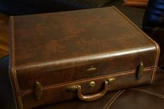 2 Vintage Hard Side SAMSONITE Suitcase & Briefcase 4118 Shwayder Bros 2 Keys