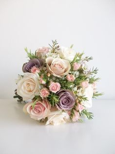 This bouquet would smell lovely with the rosemary #rockmywinterwedding @Derek Imai Imai Smith My Wedding: