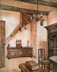 Anton Pieck, April 1940.  I love Pieck's atmospheric work.