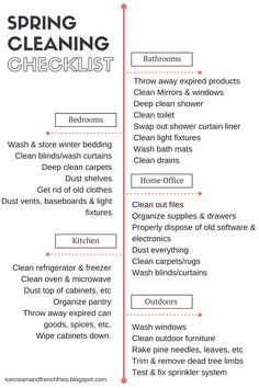 Spring Cleaning Checklist #SpringIntoClean #ad