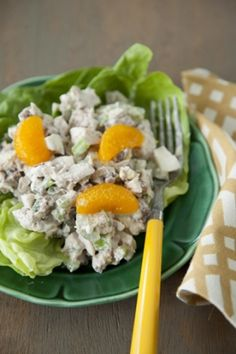 Nutty Orange Chicken Salad except I prefer green apples instead of the mandarins.
