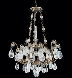 I KNOW YOU HAVE SEEN THIS BEVFORE BUT ITS A SOFT LOOK AND COULD BE USED IN THE DINNING ROOM OR EVEN THE MASTER BATH chonbek - Versailles Rock Crystal 6 Light Chandelier Schonbek Chandelier, Schonbek Lighting, Chandelier Lighting, Chandeliers, Lampshades, Versailles, Master Bath, Virginia, Fairy
