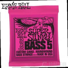 44.49$  Watch now - http://alinnu.worldwells.pw/go.php?t=32693227670 - Ernie Ball 2824 Super Slinky 5-String Nickel Wound Electric Bass Strings 40-125