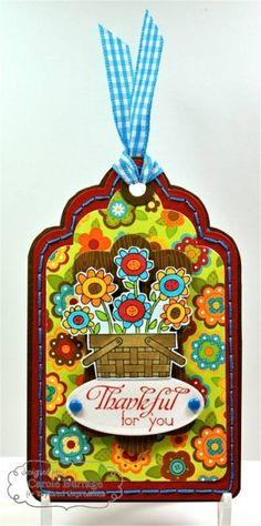 Thankful Tag by Carole Burrage #Tags, #Thanksgiving, #Fall