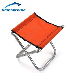 BlueSardine Random Color Fishing Chair Outdoor Camping Seat Portable Folding Chairs