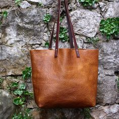 Maineleatherco Signature Tote Handsched Leathertote Totebag Maine