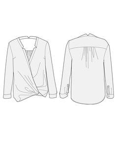 Helsinki blouse - sewing pattern for women | Orageuse