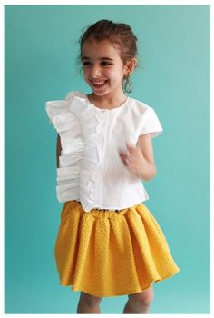 be8161c01acb Wolf   Rita Leonor Skirt-Culotte in Yellow Toddler Fashion