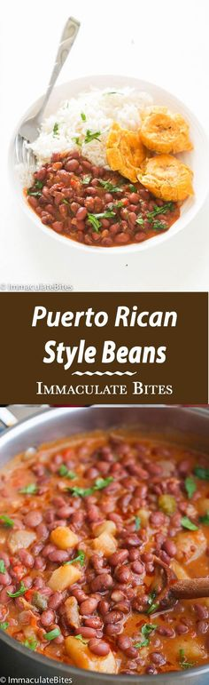 Puerto Rican Style beans Puerto Rican Style beans – A hearty red beans simmered in an aromatic sauce with big bold flavors. Quick Easy and Simply Delicious. If you like a an easy yet tasty meat free beans then, you might think this Puerto Rican Beans is Mexican Food Recipes, Vegetarian Recipes, Cooking Recipes, Healthy Recipes, Ethnic Recipes, Latin Food Recipes, Healthy Beans, Easy Recipes, Comida Boricua