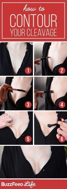 How to contour your cleavage with makeup