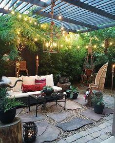 Boho outdoor charm