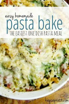 Easy. Delicious. Pasta Bake.