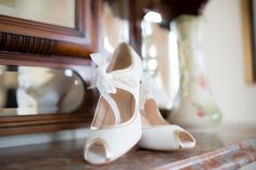 20s art deco style shoes from Lovely in Lace – Sarah & Michael's Real Wedding by Eden Photography