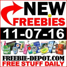 ►► NEW FREEBIE HOTLIST – FREE Stuff for November 7, 2016