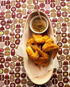 Crispy Chicken Wings | Martha Stewart Living - These chicken wings use corn tortilla chips as breading.