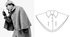DIY sherlock holmes costume Have plenty of cape patterns, using this for inspiration.