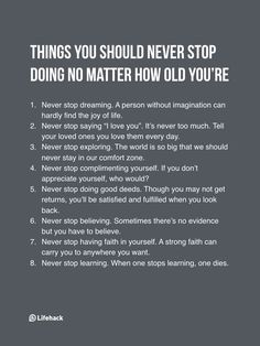 Never Stop Doing These 8 Things No Matter What Age You%u2019re At More