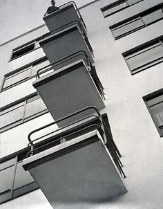 László Moholy-Nagy, Bauhaus Balconies, 1926 Love beautiful photos - would love to have more of those on www. Walter Gropius, Style International, Art Nouveau Arquitectura, Design Bauhaus, Bauhaus Art, Art Actuel, Eastman House, Laszlo Moholy Nagy, Harvard Art Museum