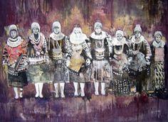 Miriam Vlaming, Minorities, 2006, Egg tempera on canvas, 130 x 160 cm, Courtesy Galerie Dukan
