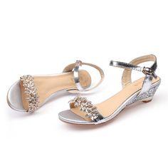 Ekoak Nouveau 2017 D'été De Mode Femmes Sandales Sexy Cristal Bling Moyen Talons Chaussures Femme Compensées Sandales Parti Robe Chaussures dans Femmes de Sandales de Chaussures sur AliExpress.com | Alibaba Group