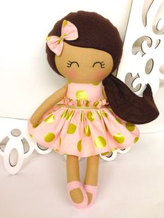 Cloth baby doll Handmade Dolls Fabric Dolls by SewManyPretties, $52.00