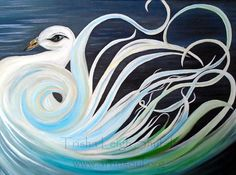 Swan Energy Painting Original Abstract Art Swan by ArtInSoulorg
